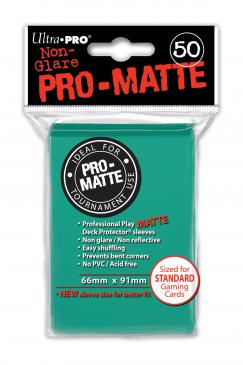 50ct Matte Aqua Standard Deck Protectors Sleeves (66mm x 91mm): www.mightylancergames.co.uk