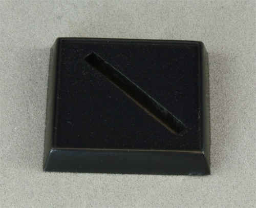 "1"" Square Plastic Base, Universal Slot"