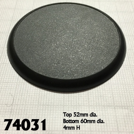 10 Pack of 60mm Round Plastic Display Bases