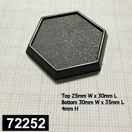 72252: 1 Inch Hex Gaming Base