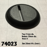 12 Pack of 30mm Round Plastic Display Bases