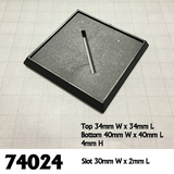 74024: 40mm Square Plastic Base (10)