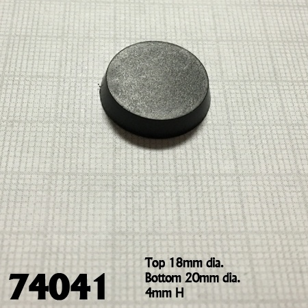 25 Pack of 20mm Round Plastic Flat Top Base