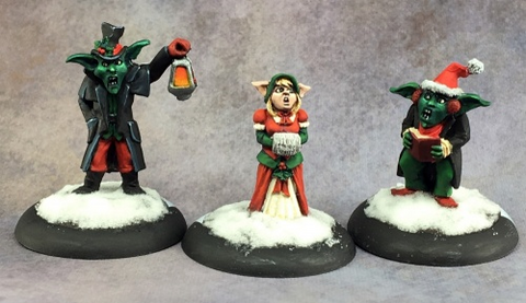 Reaper 01592 - 12 Days of Reaper - Goblin Carolers by Bob Ridolfi: www.mightylancergames.co.uk