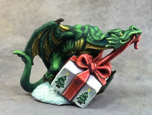 Reaper 01593 - 12 Days of Reaper - Wrapping Dragon by Julie Guthrie: www.mightylancergames.co.uk