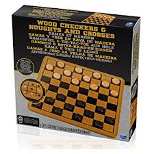 wooden checkers set