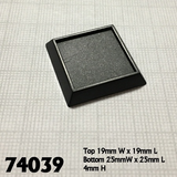 20 Pack of 1 inch Square Plastic inset top Base