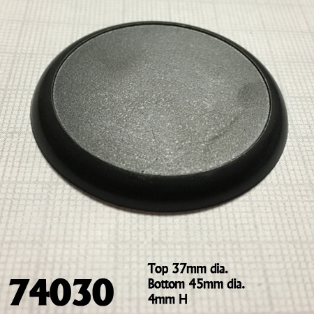 Set of 10 45mm Round Plastic Display bases