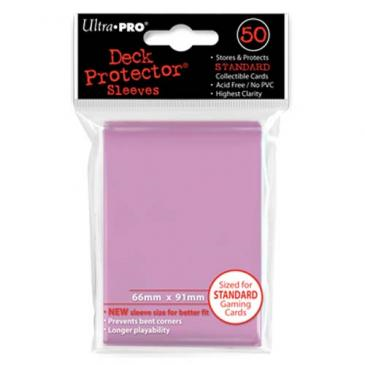 50ct Standard Pink Deck Protectors Sleeves (66mm x 91mm)