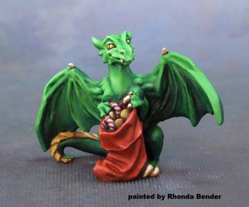 01631: 12 Days of Reaper - Dragon & Stocking by Julie Guthrie: www.mightylancergames.co.uk