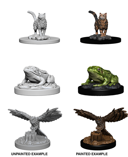 WizKids Deep Cuts Unpainted Miniatures: Familiars 73094: www.mightylancergames.co.uk