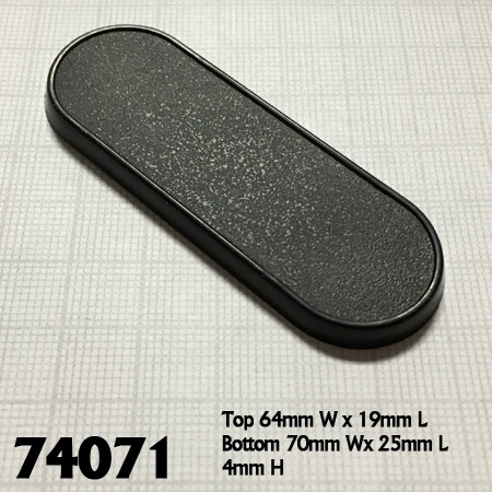74071: 70mm x 25mm Oval Gaming Base