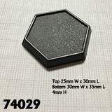 74029: 1inch Hex Plastic Gaming Base (20)