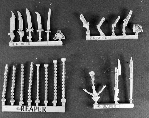 Reaper Warlord 14472  Razig Weapons Pack: www.mightylancergames.co.uk