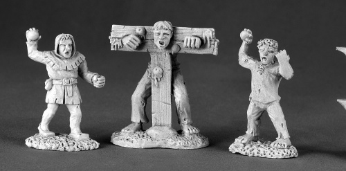 03472: Townsfolk XII Pillory & Kids by Tim Prow