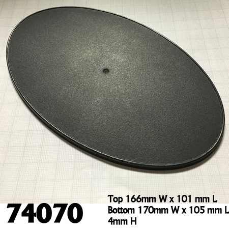 74070: 170mm x 105mm Oval Gaming Base