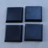 20 Pack of 1 inch Square Plastic Flat Top Base