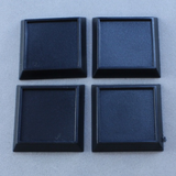 20 Pack of 1 inch Square Plastic inset top gaming Base