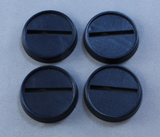 20 Pack of 1 inch Round Plastic Slotted Gaming Bases