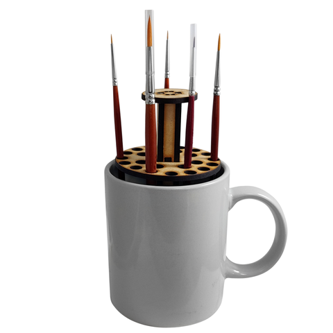 Mug o' Brush – Paint Brush Stand- Colour Forge -MDFMOB