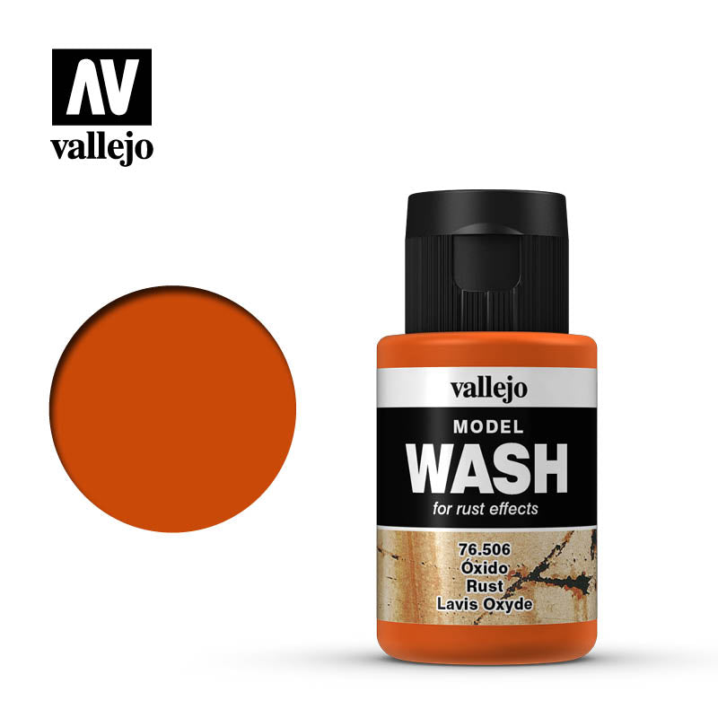 Model Wash Light Rust 76.505 is recommended for rust effects and winter scenes, cold scenes and decay or abandoned vehicles, metallic structures or all kind of metallic parts.
