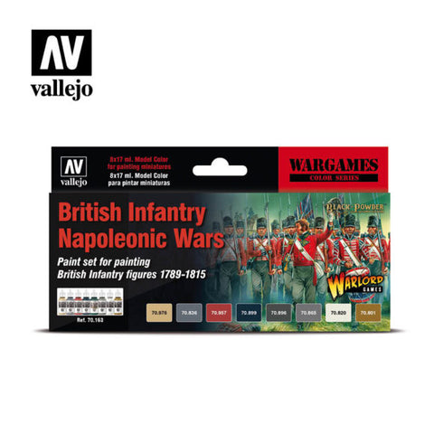 Vallejo Acrylics - British Infantry Napoleonic Wars Paint Set. ;www.mightylancergames.co.uk