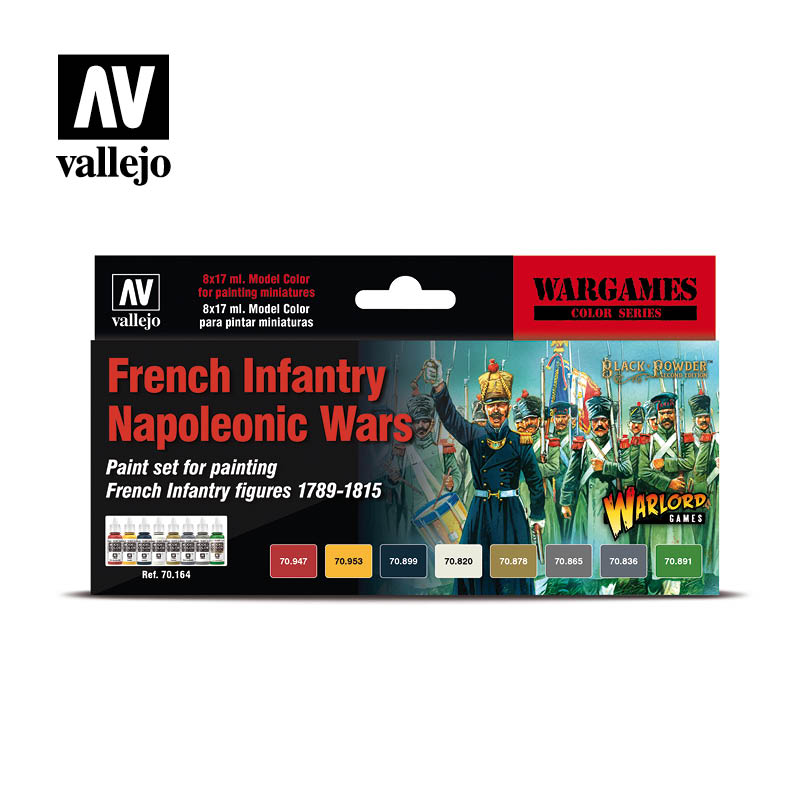 Vallejo Acrylics - French Infantry Napoleonic Wars Paint Set. ;www.mightylancergames.co.uk