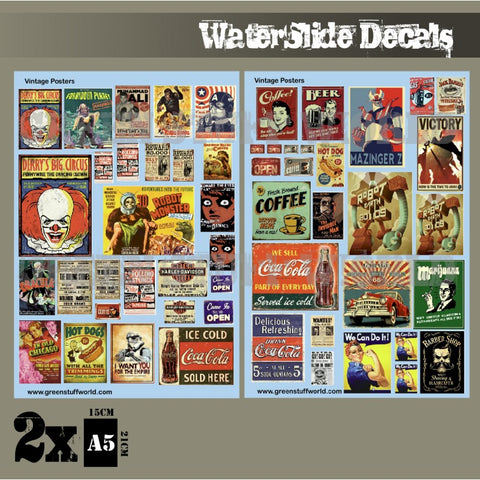 Waterslide Decals - Vintage Posters-Green Stuff World - 2010