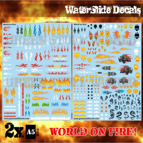 Waterslide Decals - World of Fire -Green Stuff World - 2041