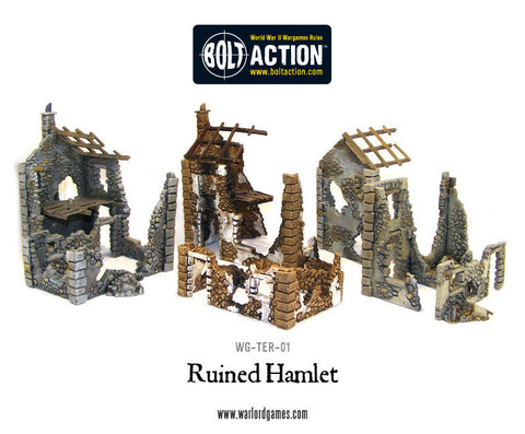 ruined hamlet plastic bolt action 28mm kit