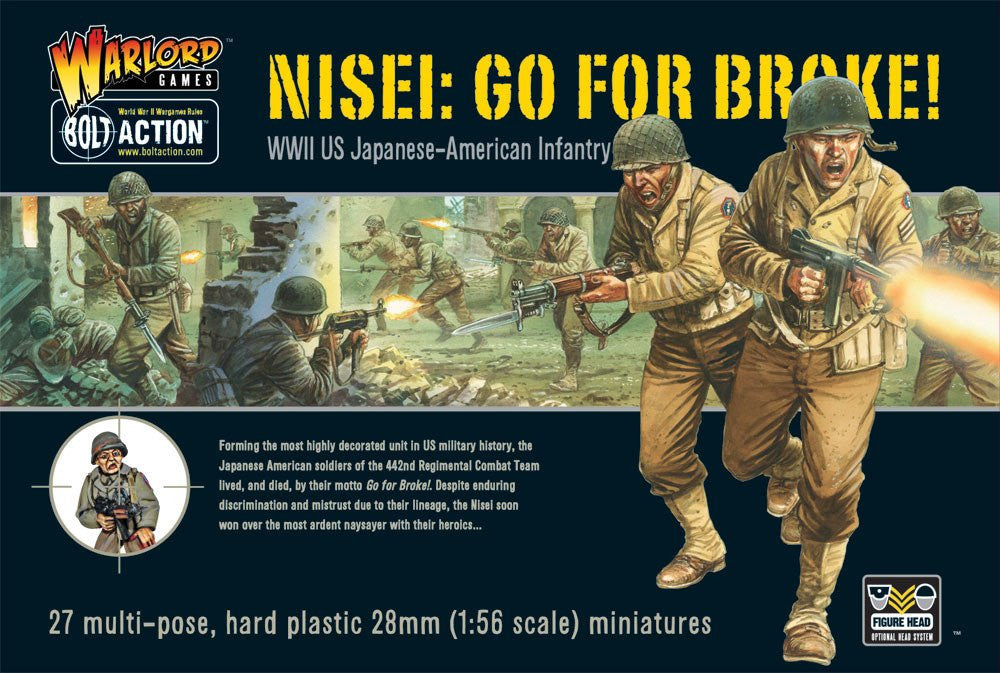 Bolt Action: US GO FOR BROKE! NISEI INFANTRY