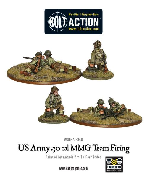 Bolt Action: US Army 30 Cal MMG team firing