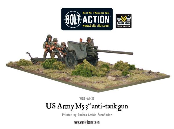 "Bolt Action: US Army M5 3"" anti-tank gun"