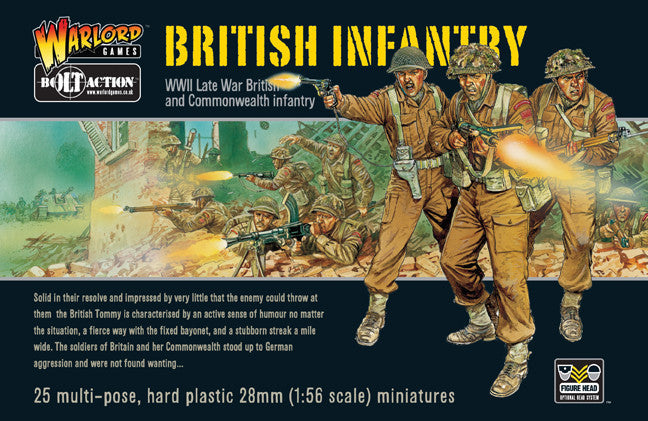 British Infantry - 25 Man Infantry Set (Bolt Action) :www.mightylancergames.co.uk