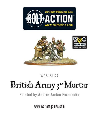 "3"" Mortar Team - British Army (Bolt Action) :www.mightylancergames.co.uk"