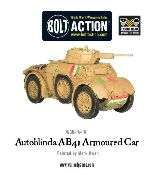 Autoblinda AB41 Armoured Car - Bolt Action