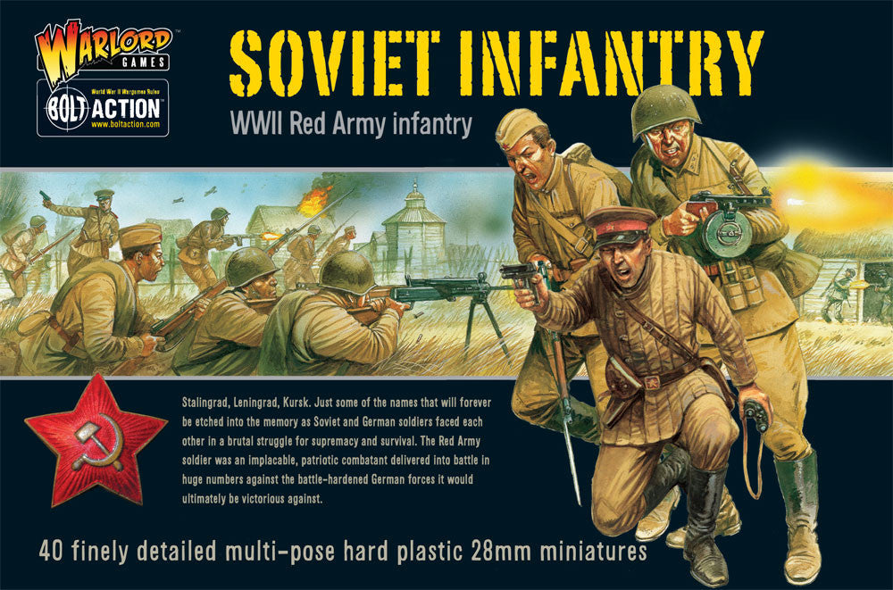 Bolt Action: Soviet Infantry plastic box set