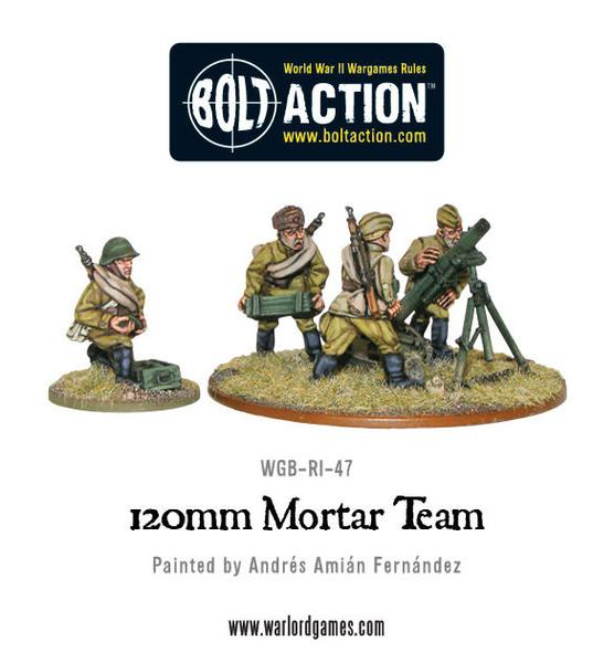 120mm Heavy Mortar Team - Soviet Army (Bolt Action WGB-RI-22) :www.mightylancergames.co.uk