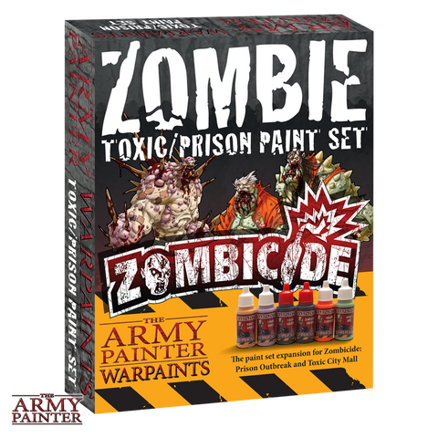 The Army Painter: Warpaints Zombicide Zombie Toxic/Prison Paint Set. ;www.mightylancergames.co.uk