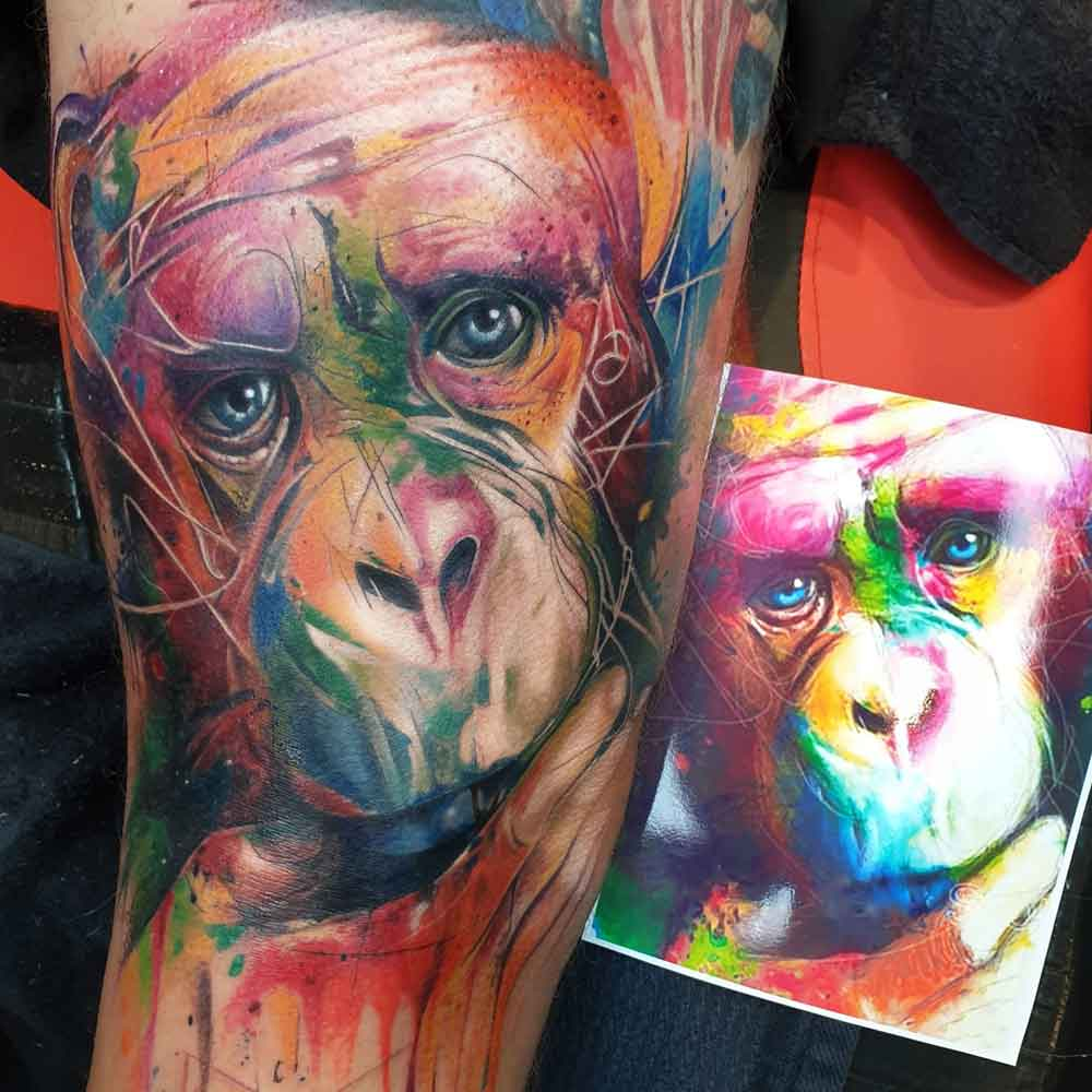 animal tattoo with LACEnano machine