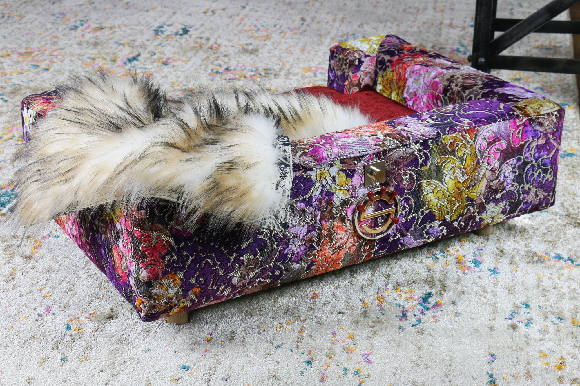 Luxury sofa for dog antique rose