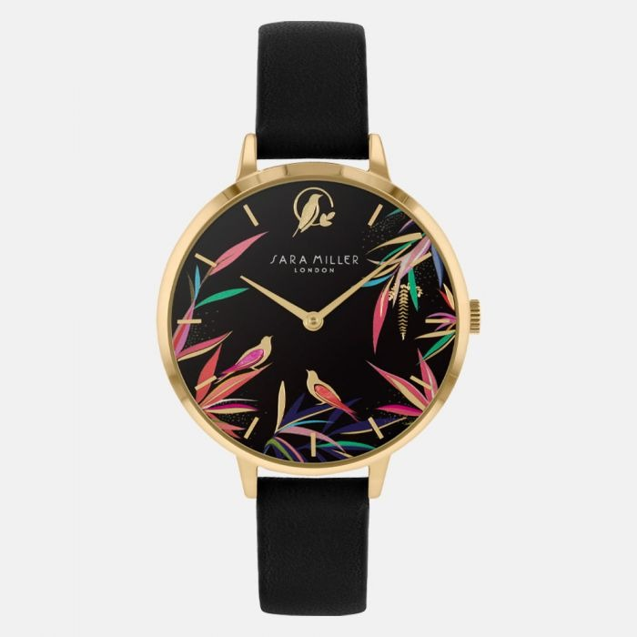 Sara Miller Watch - Bamboo Garden with Black