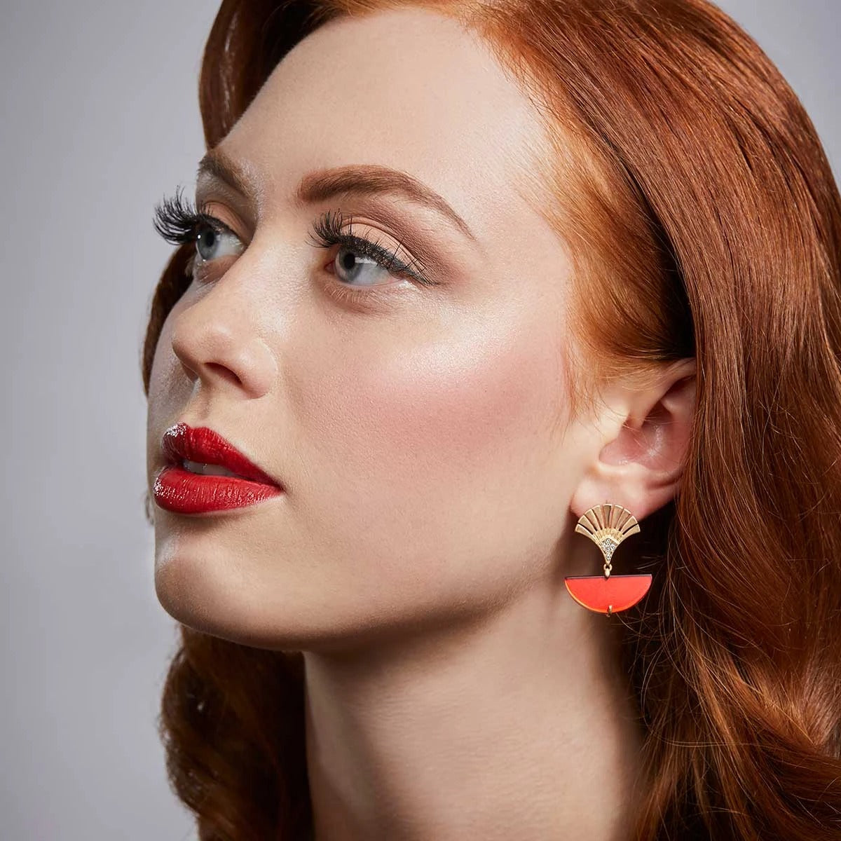 Lovett Earrings - Deco Fan