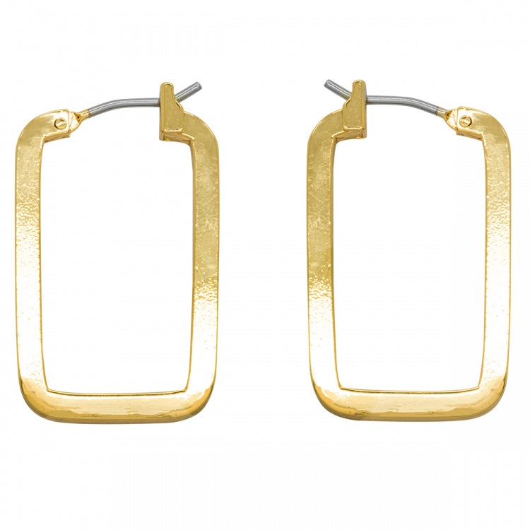 Love Luxe Earrings - Oblong Hoop - Gold, Rose Gold or Silver