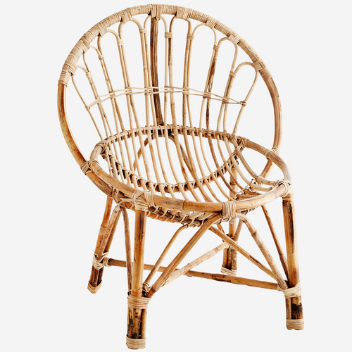 Madam Stoltz - Bamboo Round Chair