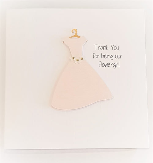 Handmade Card - Thank you for Being our Flowergirl