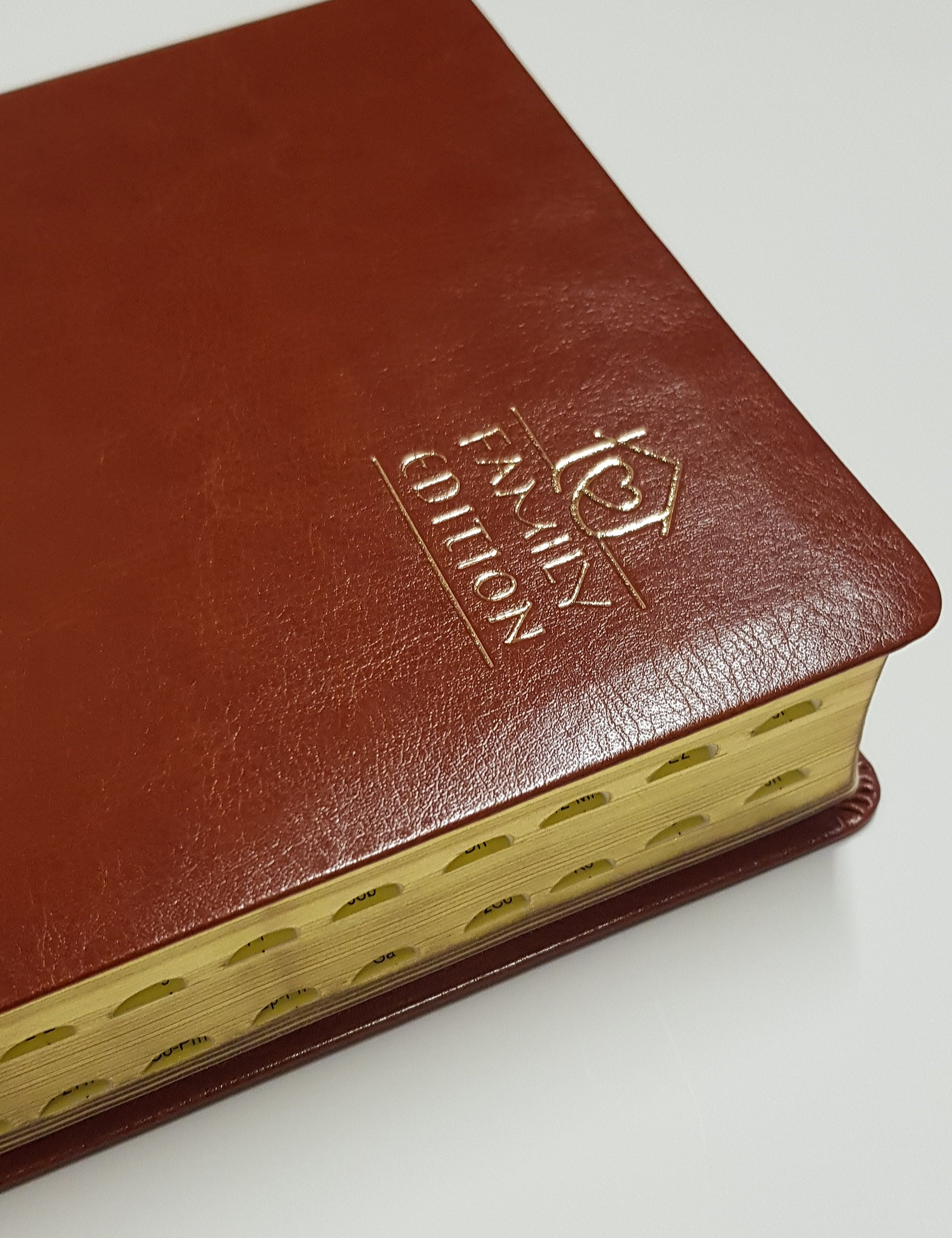 Catholic Christian Community Bible - Family Edition Leather Gilt & Indexed