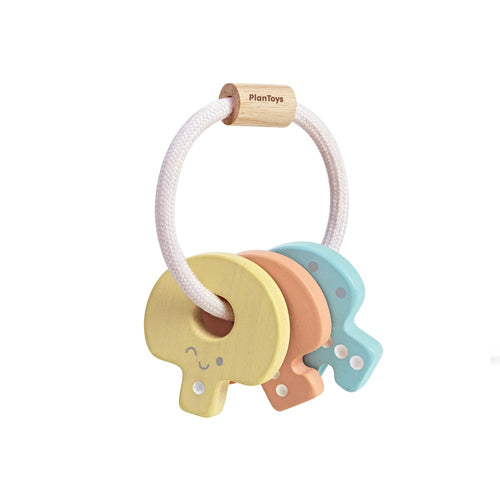 Plan Toys - Baby Key Rattle - Pastel