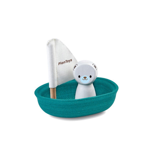 Plan Toys - Sailing Boat - Polar Bear