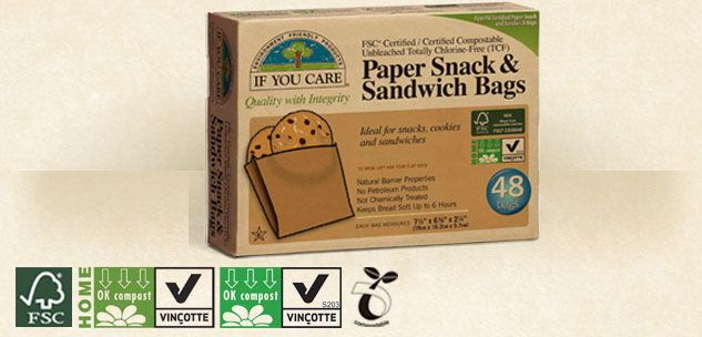 If you care - Sandwich bags - FSC certified unbleached